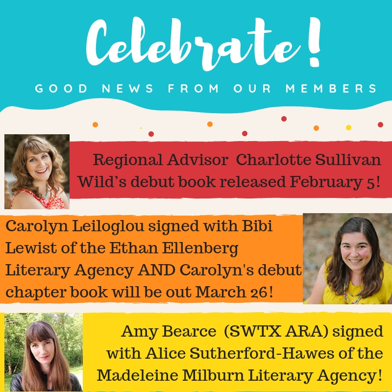 Happy Member News! December/January: Kris Kuykendall signed with agent Kathleen Ortiz of New Leaf Literary! Lupe Ruiz-Flores' short story,